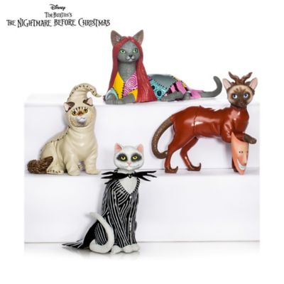 Disney Nightmare Before Christmas Cats Figurine Collection by