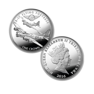 75th Anniversary WWII Bombers Silver Crown Coin Collection by