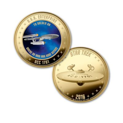 The STAR TREK 50th Anniversary Legacy Proof Coin Collection by