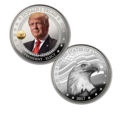 The 45th U.S. President Trump Silver Proof Coin Collection by