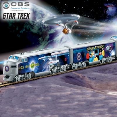 STAR TREK Illuminated Train Collection With Spock Car by