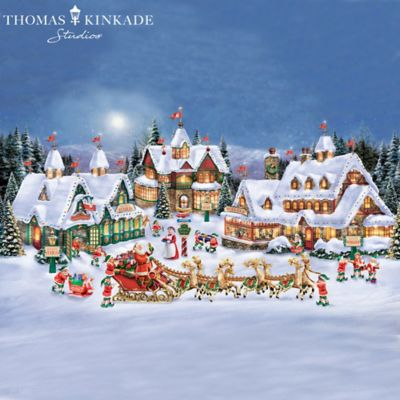 thomas kinkade handcrafted north pole village collection. Black Bedroom Furniture Sets. Home Design Ideas