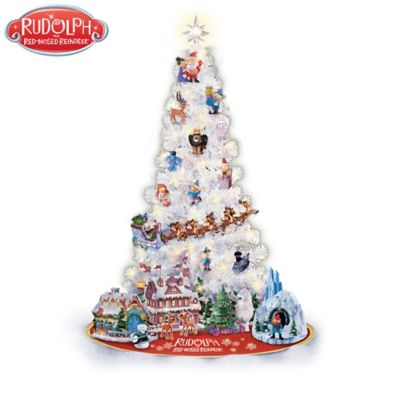 Rudolph Illuminated Christmas Tree Collection With Figurines by