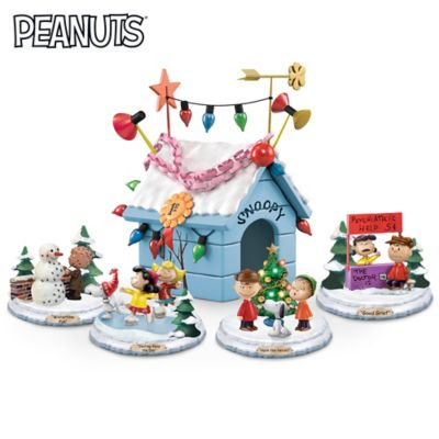 PEANUTS Very Merry Christmas Lighted Sculpture Collection by