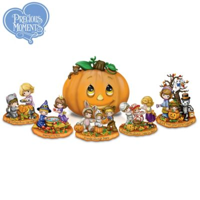 Precious Moments Halloween Sculpture Collection With Lights by