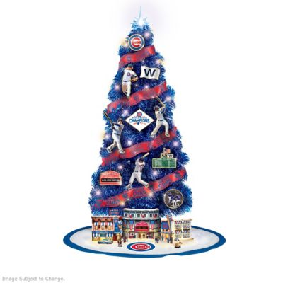 Cubs 2016 World Series Champions Christmas Tree Collection by