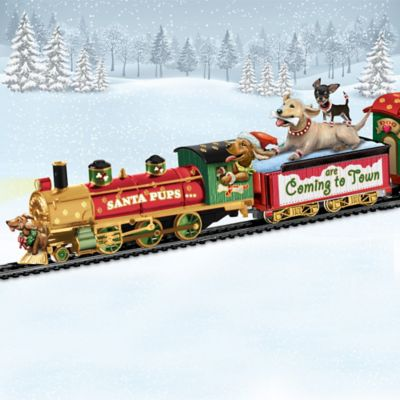 Santa Pups Are Coming To Town Express Train Collection by
