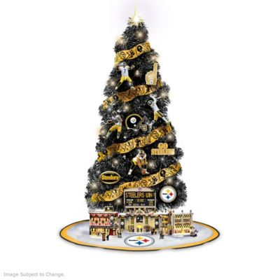Steelers Lighted Christmas Tree Collection With Scoreboard by