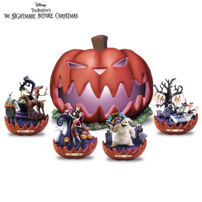 Nightmare Before Christmas Illuminated Sculpture Collection by