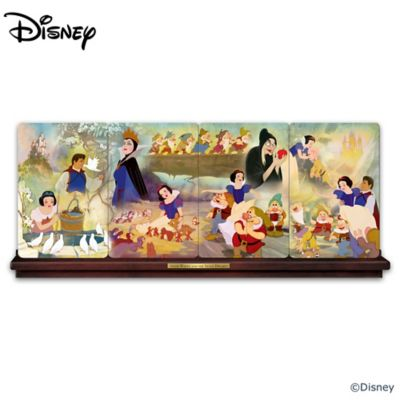Snow White And The Seven Dwarfs Panorama Plate Collection by