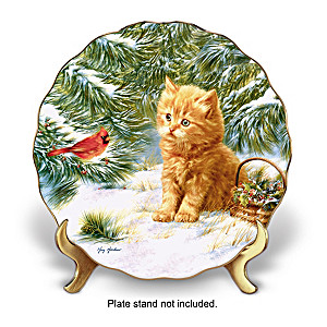 """Smitten Kitten"" Porcelain Collector Plate"