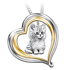 """""""Purr-fect Companion"""" Cat Lover's Pendant"""