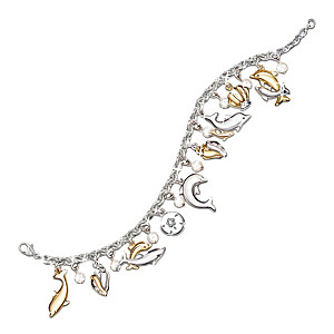 """Jeweled Dancers"" Diamond And Crystal Bracelet"