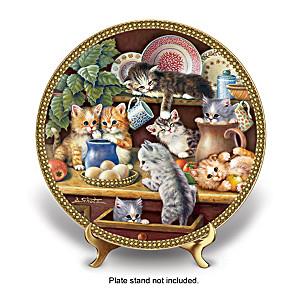 """Kitchen Capers"" Jürgen Scholz Kitten Art Plate"