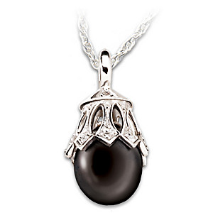 Black Tahitian Cultured Pearl & Diamond Pendant