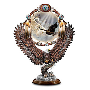Soaring Dream Eagle Mixed-Media Sculpture