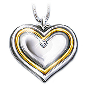 The Diamond Heart-Shaped Pendant For Daughter-In-Law