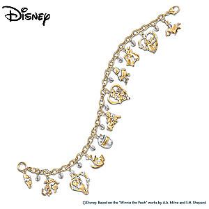 Winnie The Pooh & Friends Swarovski Crystal Charm Bracelet