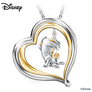 Winnie The Pooh Eeyore Engraved Pendant Necklace
