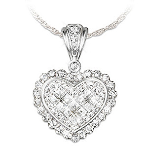 """Precious Daughter, Perfect Bride"" Crystal Heart Pendant"