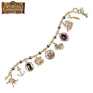 """Pirates Of The Caribbean"" Black Pearl Charm Bracelet"