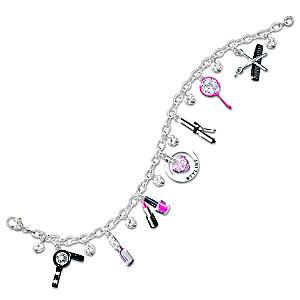Hair Stylist's Swarovski® Crystal Charm Bracelet