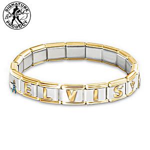 """The """"Forever Elvis"""" Italian Charm Bracelet"""