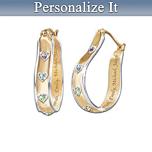 """A Mother's Joy"" Personalized Birthstone Earrings"
