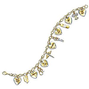 Nurses Tribute Engraved Crystal Charm Bracelet