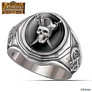 Pirates Of The Caribbean Sterling Silver Men's Ring