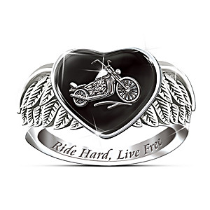 """Ride Hard, Live Free"" Women's Engraved Ring"
