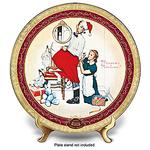 "Norman Rockwell ""Santa's Surprise"" Collector Christmas Plate"