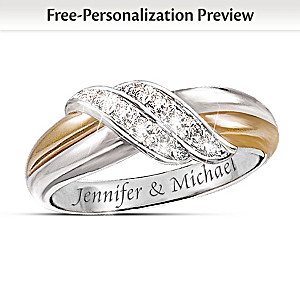 Diamond Embrace Personalized 2-Band Ring