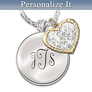 """My Blessed Daughter"" Engraving Personalized Crystal Pendant"