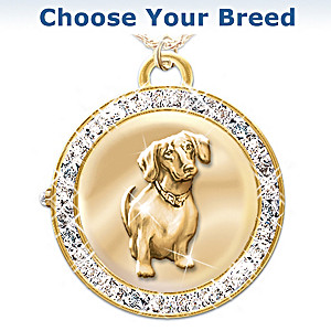 """Time For Loving"" Reversible Dog Watch Pendant"