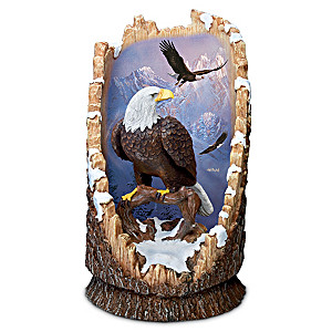 Illuminated Eagle Sculpture With The Art Of Ted Blaylock