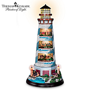 "Thomas Kinkade ""Tower of Light"" Lighthouse Sculpture"