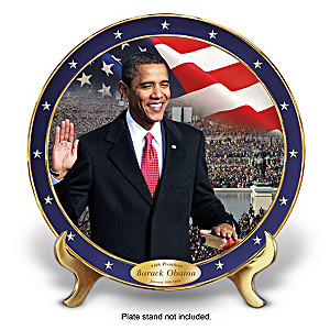 """The Time Has Come"" Barack Obama Tribute Collector Plate"