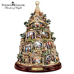 Illuminated Nativity Tree With Thomas Kinkade Narration