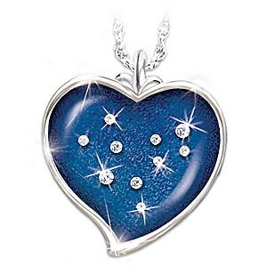 """Stars Of Heaven"" Bereavement Crystal Pendant"
