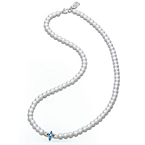 The Trinity: Sapphire And Diamond Pearl Necklace