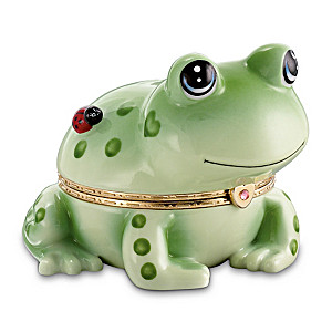 """Hoppy"" Porcelain Frog Music Box"