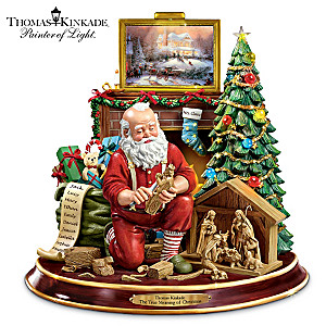 "Thomas Kinkade ""The True Meaning Of Christmas"" Figurine"