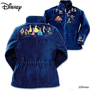 """Magic Of Disney"" Fleece Jacket With 32 Characters"
