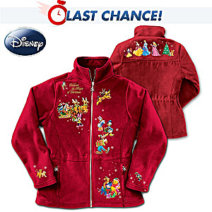 "Disney ""Magic Of Christmas"" 20-Character Fleece Jacket"