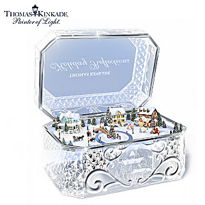 Thomas Kinkade Animated Crystal Holiday Music Box