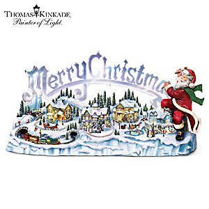 """Thomas Kinkade Santa's Inspiration"": Lights, Music, Motion"
