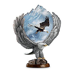 """Ted Blaylock """"Free To Soar"""" Mixed Media Eagle Sculpture"""