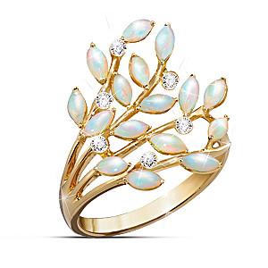 Opal Indulgence Diamond Ring
