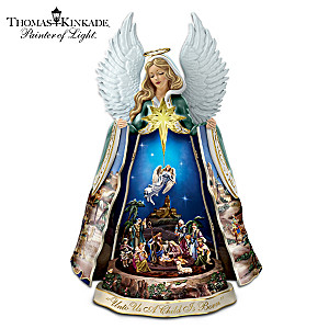 Thomas Kinkade Talking Nativity Angel: Light, Music, Motion